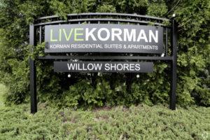 Korman Residential - Willow Shores Live Korman Sign