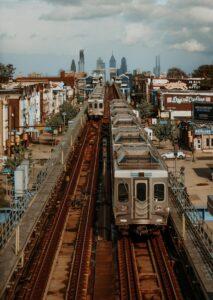 SEPTA train line in Philadelphia.